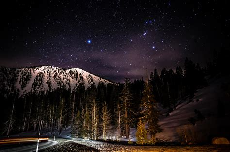 Mt Rose Gift Cards - mt rose highway and ski resort at night photograph by scott mcguire