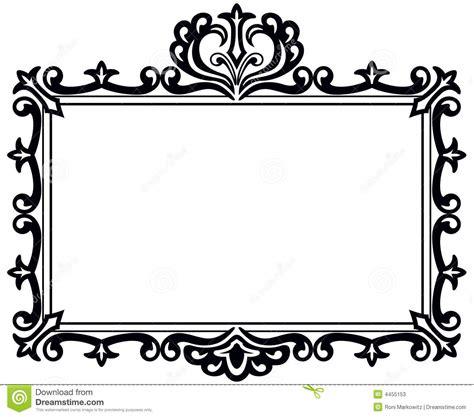 frame design clipart black antique frame stock vector illustration of