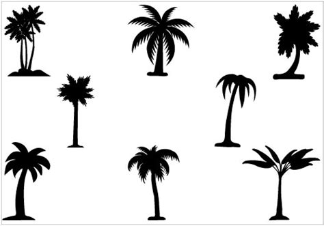 palm tree silhouette vector clipart best