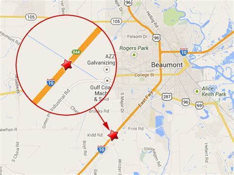 texas mile marker map fatal 18 wheeler crash closes i 10 near beaumont tx truck lawyer news