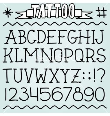 traditional tattoo number fonts old school tattoo font vector letters by dmitriylo on