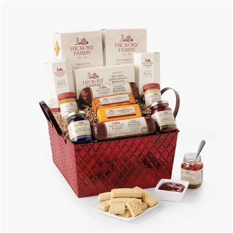 hickory farms savory sweet holiday gift basket