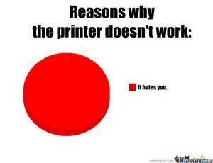 Meme Print - why the printer doesn t work by aed meme center