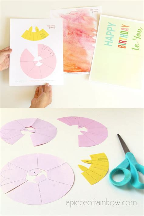 pop up cards templates free with top taps make a birthday card with pop up watercolor flower free