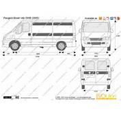 The Blueprintscom  Vector Drawing Peugeot Boxer Van SWB