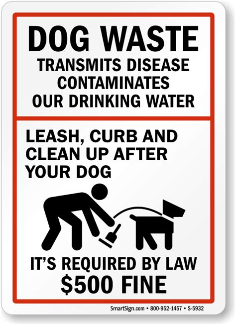 up your signs waste transmits disease sign clean up after signs sku s 5932