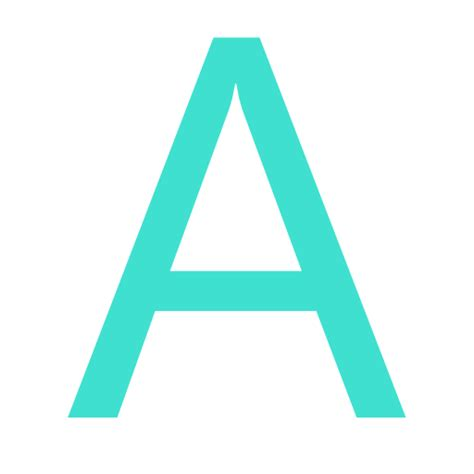 free turquoise letter a icon turquoise letter a icon