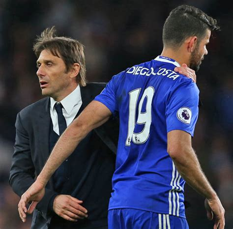 diego costa showing complacency from lack of competition for chelseas antonio conte chelsea boss planning showdown talks with