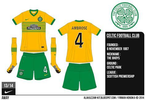 Kaos Adidas Celtic celtic football club 2013 2014 home away kits nike