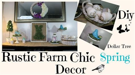 dollar tree home decor diy rustic chic spring dollar tree home decor youtube