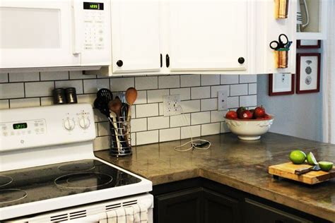 install subway tile backsplash how to install a subway tile kitchen backsplash