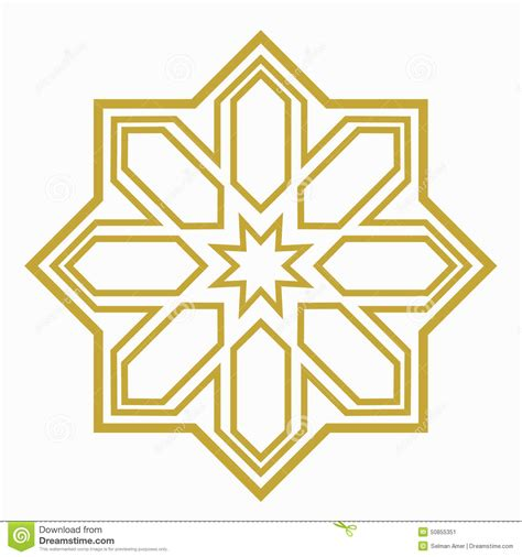 islamic pattern shapes islamic or arabic shape stock vector image 50855351