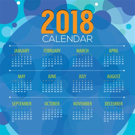 granica mafalda 2018 desktop calendar blue 2018 calendar with blue abstract background vector vector calendar free download