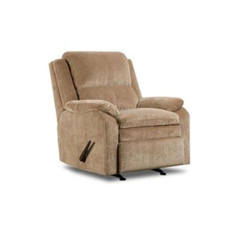 sears recliners furniture simmons upholstery tan bixby ii high back rocker recliner