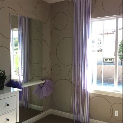 ballet barre in bedroom girls bedroom ballet bar and ribbon curtains so cute