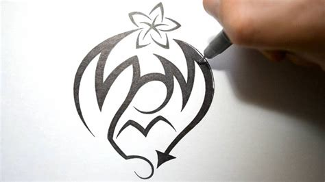 how to draw graffiti in tribal tattoo design style mom