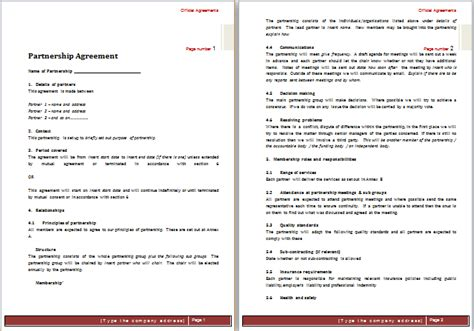simple collaboration agreement template doc 1002646 contract templates bizdoska