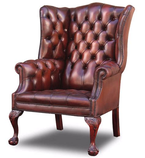 Upholstery Salisbury by Salisbury Wing Chair On Extended Leg In Dyed Hide