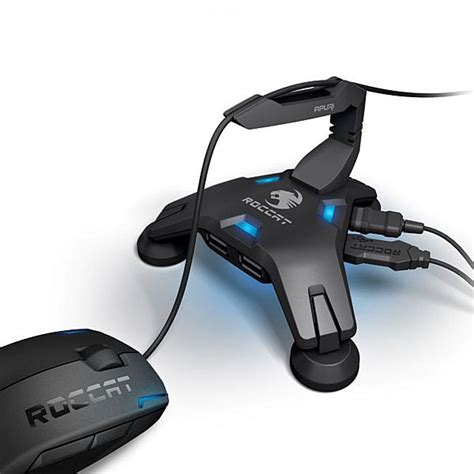 Cool House Gadgets roccat apuri active usb hub with mouse bungee gadgetsin