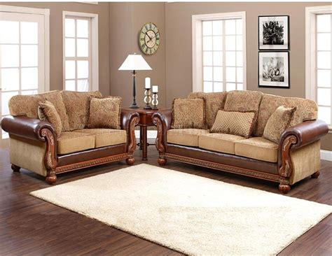 classic sofa set multi tone fabric classic sofa loveseat set w options