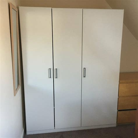 Ikea Dombås Wardrobe - white ikea dombas 3 door wardrobe in dundee gumtree