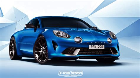 renault alpine celebration concept rendered in production