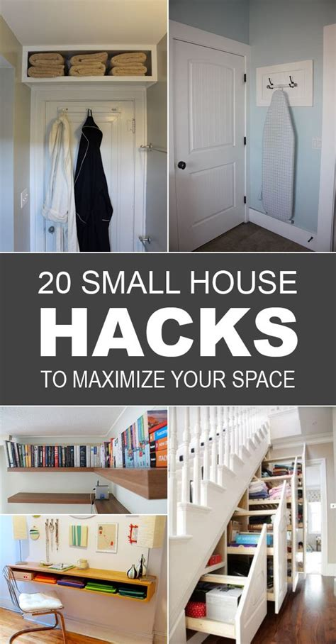 small house hacks  maximize  space small space