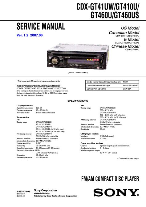 sony cdx gt170 wiring diagram gooddy org