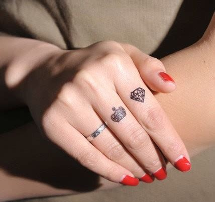 tattooed fingernails 50 beautiful girly finger tattoos