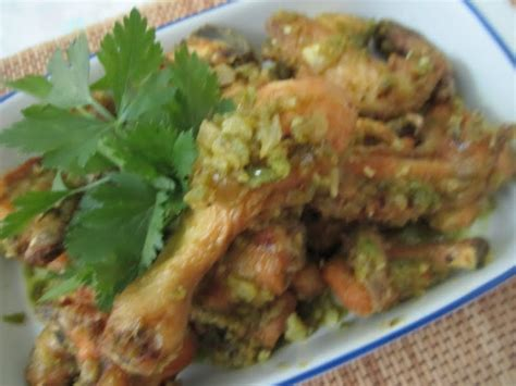 patyskitchen ayam goreng cabe ijo green chili fried chicken