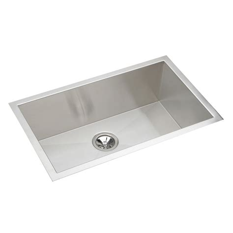 Stainless Steel Single Basin Kitchen Sink Elkay Efu281610 Avado Undermount Bowl Single Basin Kitchen Sink Stainless Steel Atg Stores