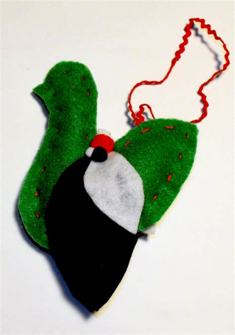 birds of a feather christmas ornaments