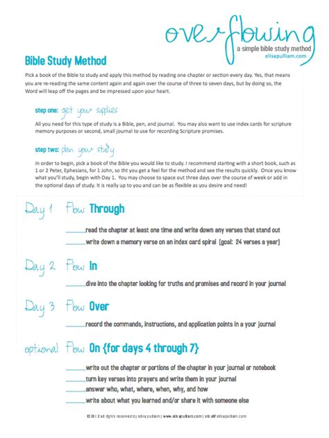 Free Printable Bible Study Worksheets by Free Bible Study Method Printable For Tweens And