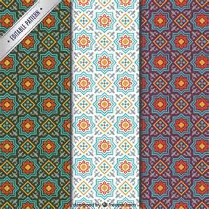 Mosaic Templates by Arabic Mosaic Patterns Vector Free