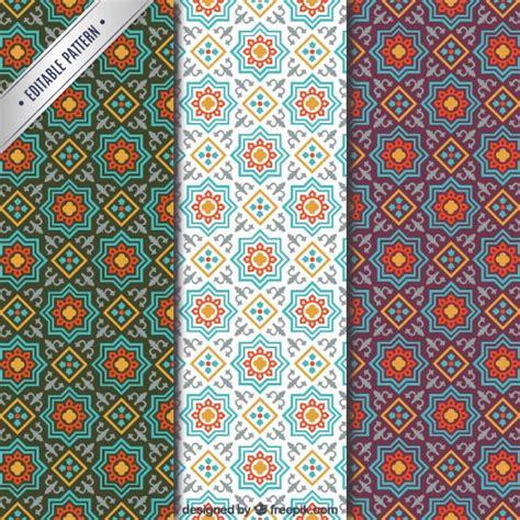 pattern arabic arabic mosaic patterns vector free download