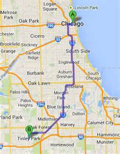 Google Maps Chicago Il by Town Car And Limousine Services From Chicago To Tinley