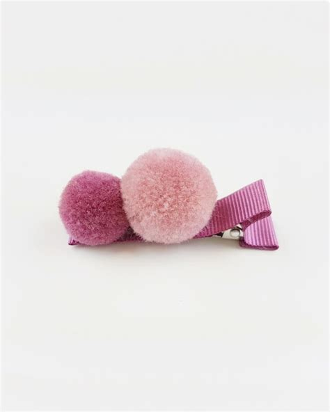 Hairclip Pink 1 made pompom hair clip 1 pc baby pink pink mylittleceleb