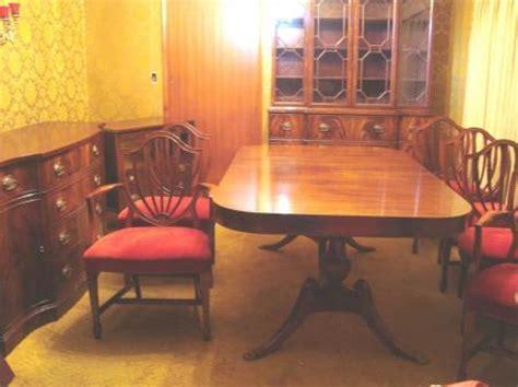duncan phyfe dining room set drexel wallace nutting mahogany 18pc duncan phyfe dining