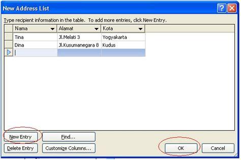 langkah langkah membuat mail merge surat berantai mail merge dengan menggunakan ms word 2007 langkah