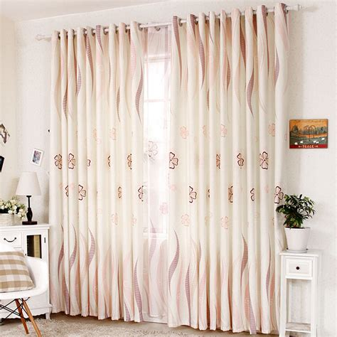 modern country curtains brief modern beige jacquard flowers bedroom kids country