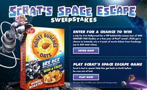 Space Escape Sweepstakes - scrat s space escape sweepstakes sweepstakesbible