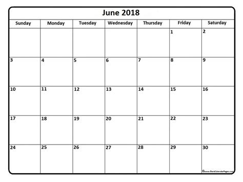 free printable blank calendar pages june 2018 calendar 51 calendar templates of 2018 calendars