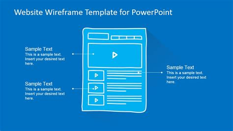 Website Wireframe Template For Powerpoint Slidemodel Website Presentation Template