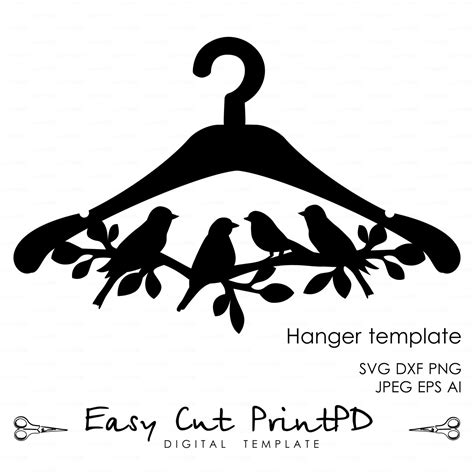 eps format in dxf hanger bird branch die cut wooden template file eps svg