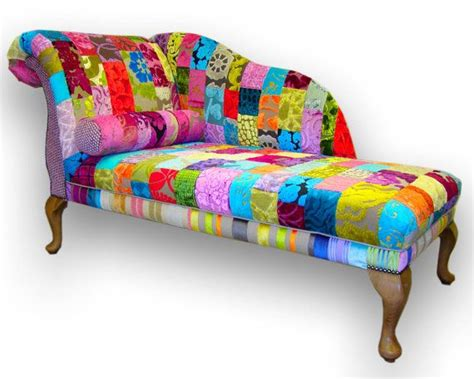 funky chaise lounge chairs patchwork chaise longue in designers guild by