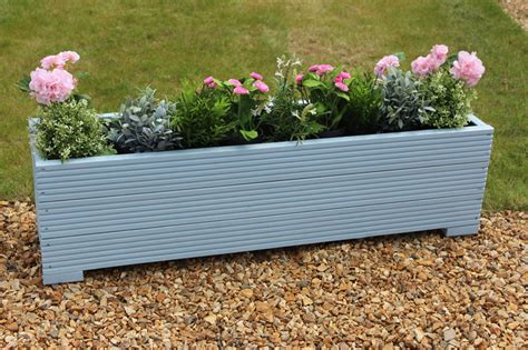 Large Herb Planters by Large Wooden Garden Flower Herb Planter Trough Veg Bed