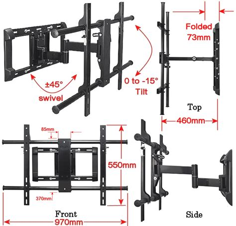 Tv Lcd 800 Ribuan logik lcls11x tv lcd cantilever wall mount for 37 63 quot vesa 800 x 400mm ebay