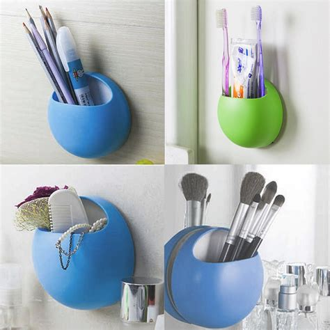 suction cups for bathroom home bathroom toothbrush wall mount holder sucker suction cups organizer bs ebay