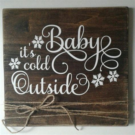 baby  cold  sign christmas signs holiday signs winter signs