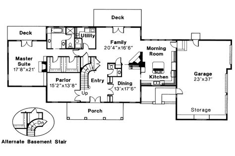 colonial floor plans colonial house plans clairmont 10 041 associated designs